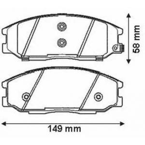 JURID 572453J Колодки дискового тормоза (пр-во Jurid)