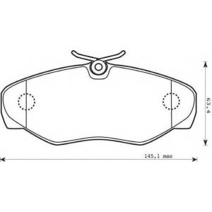 JURID 573058J Колодки дискового тормоза (пр-во Jurid)