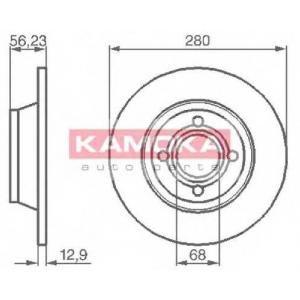 KAMOKA 1031036 Гальмiвнi диски