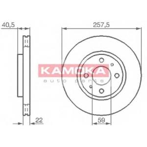 KAMOKA 1031524 Гальмiвнi диски