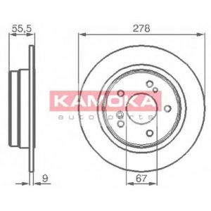 KAMOKA 1031638 Тормозной диск Крайслер Саратога