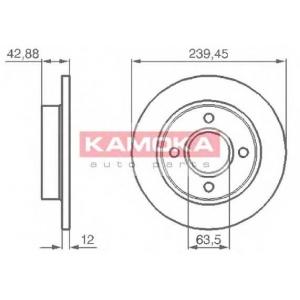 KAMOKA 1031690 Гальмiвнi диски
