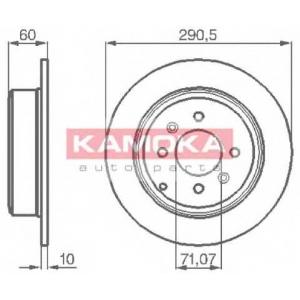KAMOKA 1031738 Тормозной диск