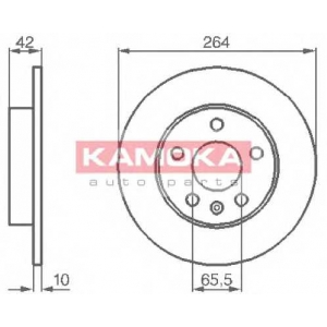 KAMOKA 1032088 Гальмiвнi диски