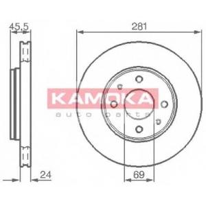KAMOKA 1032136 Гальмiвнi диски