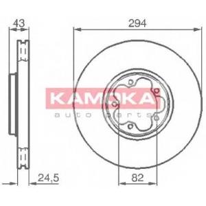 KAMOKA 1032224 Диск тормозной Ford Transit передний (пр-во KAMOKA)