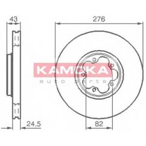 KAMOKA 1032226 Гальмiвнi диски