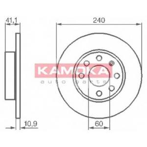 KAMOKA 1032258 Гальмiвнi диски