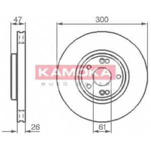 KAMOKA 1032410 Гальмiвнi диски