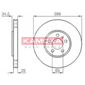 KAMOKA 1032442 Гальмiвнi диски