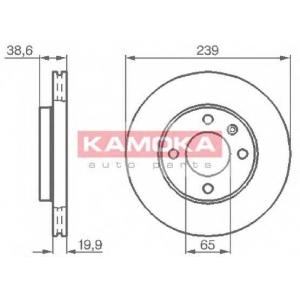 KAMOKA 103350 Гальмiвнi диски