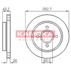 KAMOKA 103958 Гальмiвнi диски