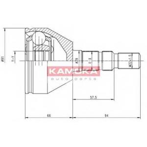 KAMOKA 6037 К-т шарнiрний привiдного валу