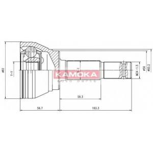 KAMOKA 6292 Drive shaft outer kit