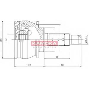 KAMOKA 6384 К-т шарнiрний привiдного валу