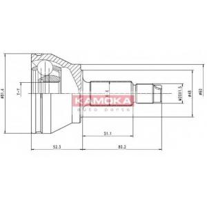 KAMOKA 6512 Drive shaft outer kit