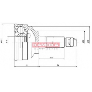 KAMOKA 6558 Drive shaft outer kit