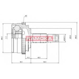 KAMOKA 6636 Drive shaft kit