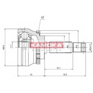 KAMOKA 6658 Drive shaft kit