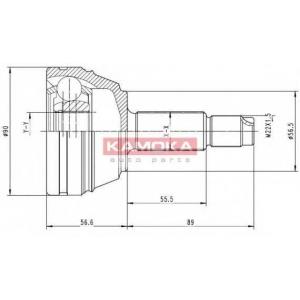 Шарнирный комплект, приводной вал 6710 kamoka - FORD ESCORT V (GAL) Наклонная задняя часть 1.8 16V XR3i