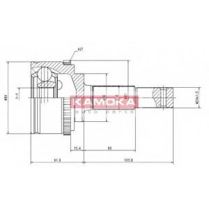 Шарнирный комплект, приводной вал 6844 kamoka - NISSAN PRIMERA (P10) седан 1.6