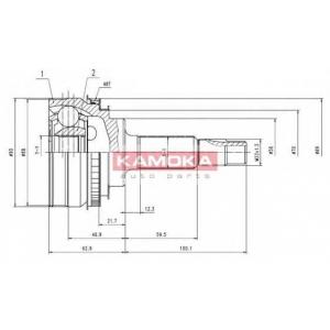 KAMOKA 6890 Drive shaft kit