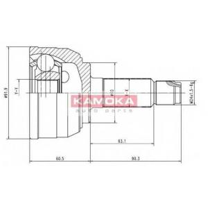 KAMOKA 6950 Drive shaft outer kit