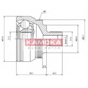 KAMOKA 7050 К-т шарнiрний привiдного валу