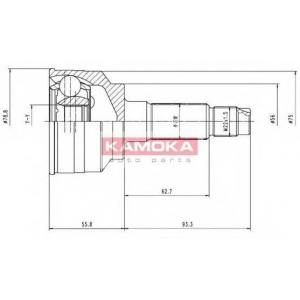 KAMOKA 7068 Шарнирный комплект, приводной вал