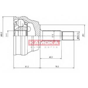 KAMOKA 7094 К-т шарнiрний привiдного валу