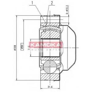 KAMOKA 8713 Drive shaft kit