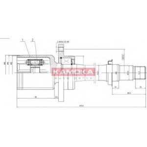 Шарнирный комплект, приводной вал 8719 kamoka - TOYOTA AVENSIS Liftback (_T22_) Наклонная задняя часть 2.0 D-4D (CDT220_)