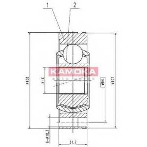 KAMOKA 8738 Запчасть