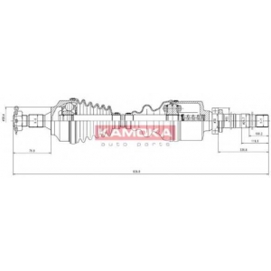 KAMOKA CT1138972 Half shaft