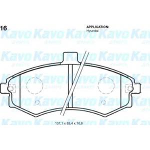 KAVO PARTS BP-3016 Brake Pad