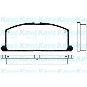 Комплект тормозных колодок, дисковый тормоз bp9005 kavo - TOYOTA STARLET (_P7_) Наклонная задняя часть 1.3 (EP71L)