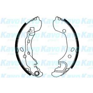 Комплект тормозных колодок bs7420 kavo - NISSAN MICRA III (K12) Наклонная задняя часть 1.2 16V