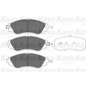 Комплект тормозных колодок, дисковый тормоз kbp1001 kavo - DAEWOO NUBIRA (KLAJ) Наклонная задняя часть 2.0 16V