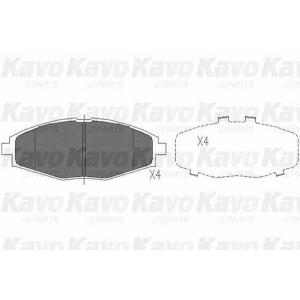 Комплект тормозных колодок, дисковый тормоз kbp1002 kavo - DAEWOO LANOS (KLAT) Наклонная задняя часть 1.4