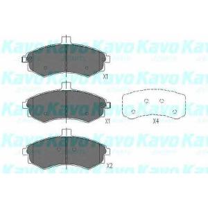 Комплект тормозных колодок, дисковый тормоз kbp3006 kavo - HYUNDAI ELANTRA (XD) Наклонная задняя часть 1.6