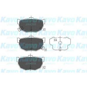 Комплект тормозных колодок, дисковый тормоз kbp3007 kavo - NISSAN MAXIMA II (J30) седан 3.0 i