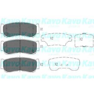 Комплект тормозных колодок, дисковый тормоз kbp3024 kavo - HYUNDAI SANTA F? I (SM) вездеход закрытый 2.2 CRDi 4x4
