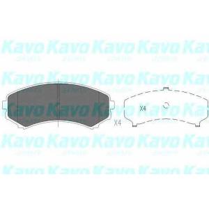 Комплект тормозных колодок, дисковый тормоз kbp4504 kavo - MITSUBISHI PAJERO I Canvas Top (L04_G) Вездеход открытый 2.6 (L042G, L047G)