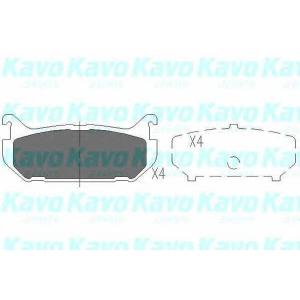 Комплект тормозных колодок, дисковый тормоз kbp4508 kavo - MAZDA MX-6 (GE) купе 2.0