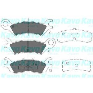 KAVO PARTS KBP-4538 Комплект тормозных колодок, дисковый тормоз Мазда 929
