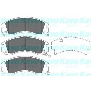 KAVO PARTS KBP-5503 Комплект тормозных колодок, дисковый тормоз Дайхатсу