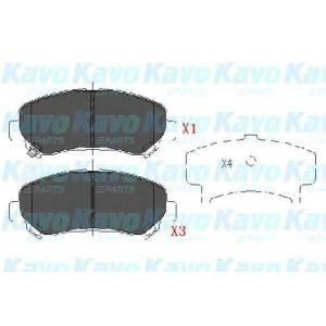 Комплект тормозных колодок, дисковый тормоз kbp6519 kavo - NISSAN QASHQAI / QASHQAI +2 (J10, JJ10) вездеход закрытый 1.6