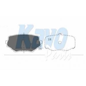 Комплект тормозных колодок, дисковый тормоз kbp8506 kavo - SUZUKI VITARA (ET, TA) вездеход закрытый 2.0 V6 24V (ET)
