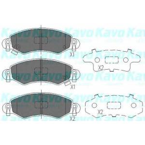 Комплект тормозных колодок, дисковый тормоз kbp8508 kavo - SUZUKI WAGON R+ (EM) вэн 1.0 (MA61)