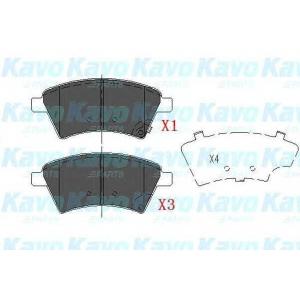 Комплект тормозных колодок, дисковый тормоз kbp8523 kavo - SUZUKI SX4 (GY) Наклонная задняя часть 1.5 VVT